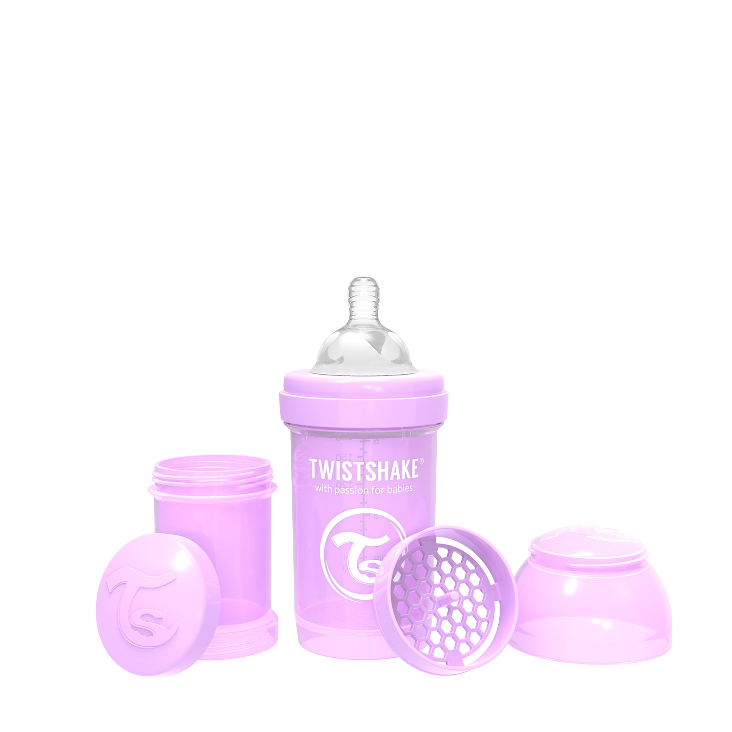 Mamadera Twistshake Anti-Colic 180ml Violeta