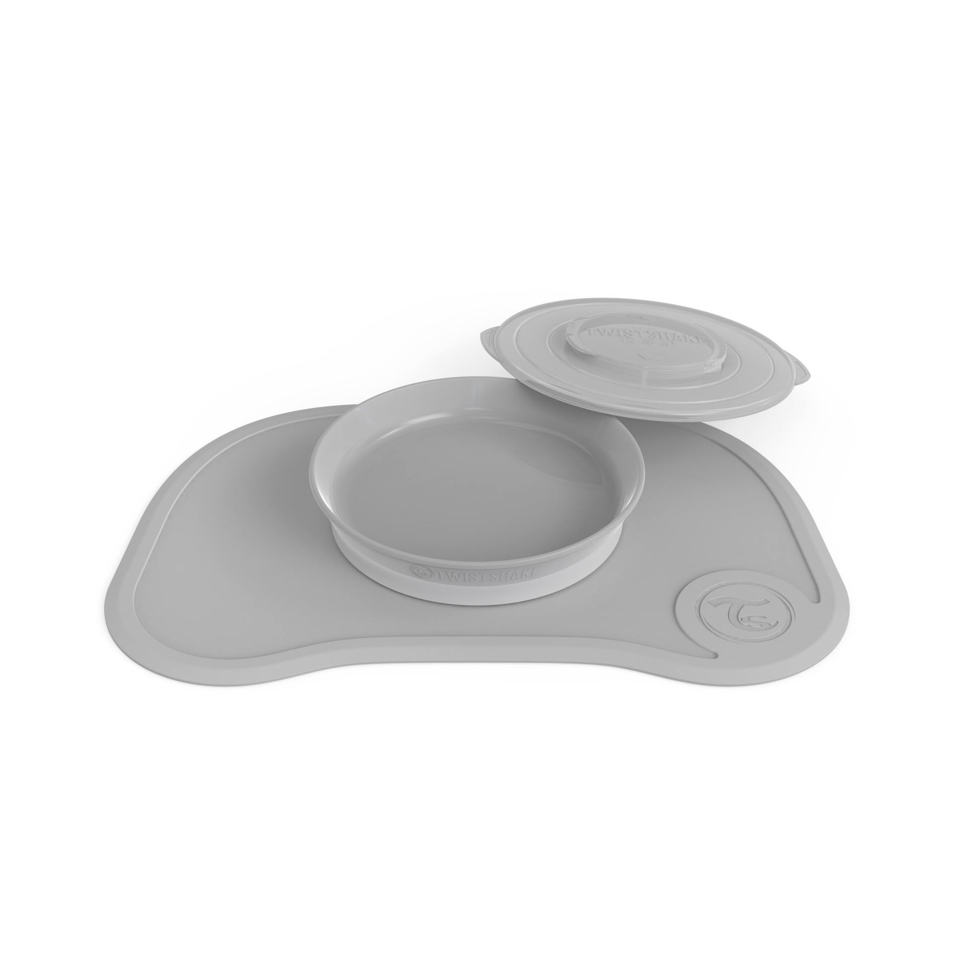 Individual Twistshake Click Mat Plate 6 m Gris Oscuro