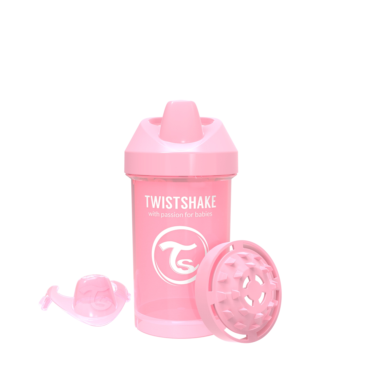 Vasos Twistshake Crawler Cup 300ml 8 m Rosa