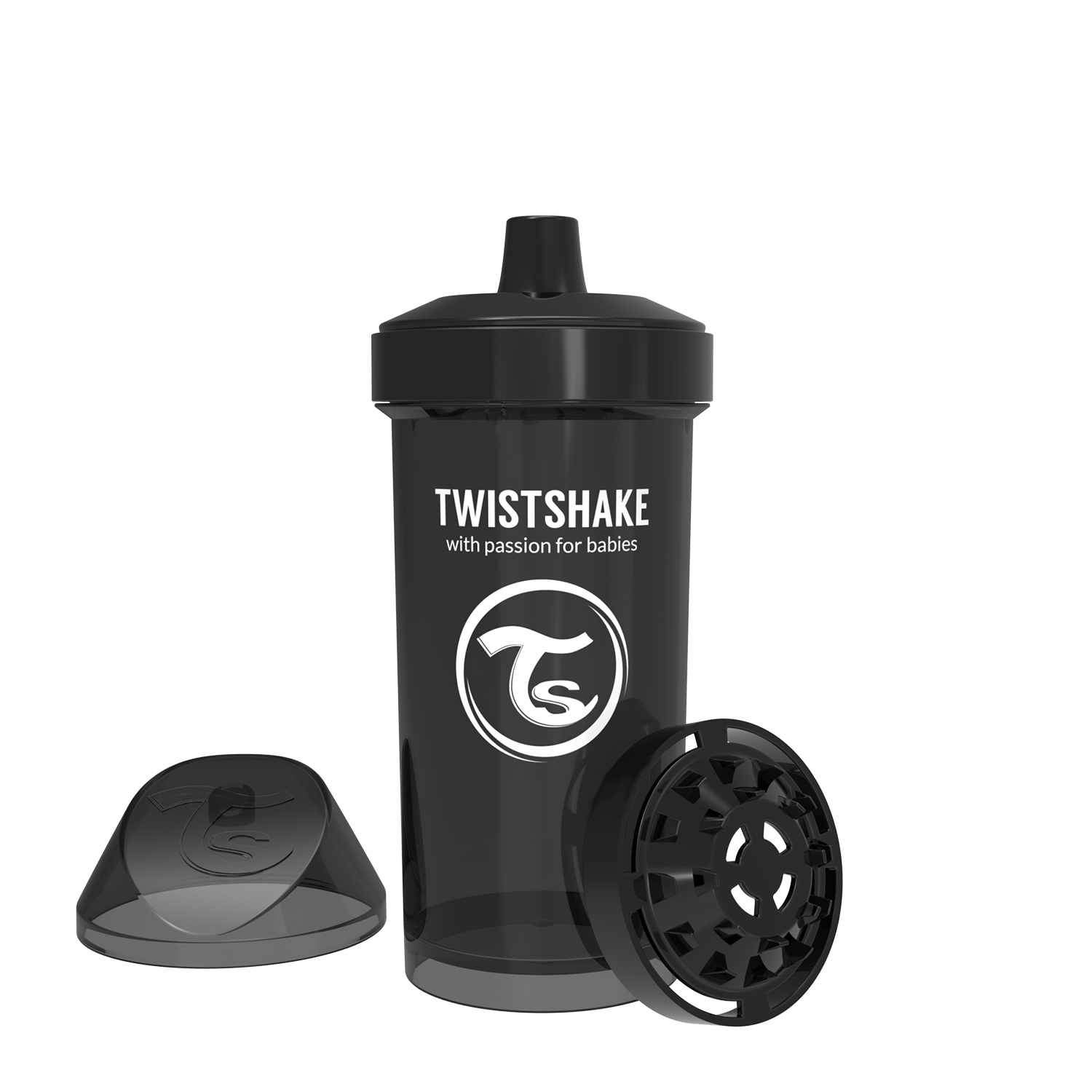 Vasos Twistshake Kid Cup 360ml 12 m Negro
