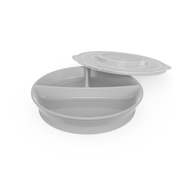 Plato Twistshake Divided Plate 6 m Gris Oscuro